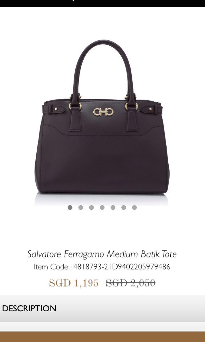 a9425b6810 Salvatore Ferragamo medium batik tote