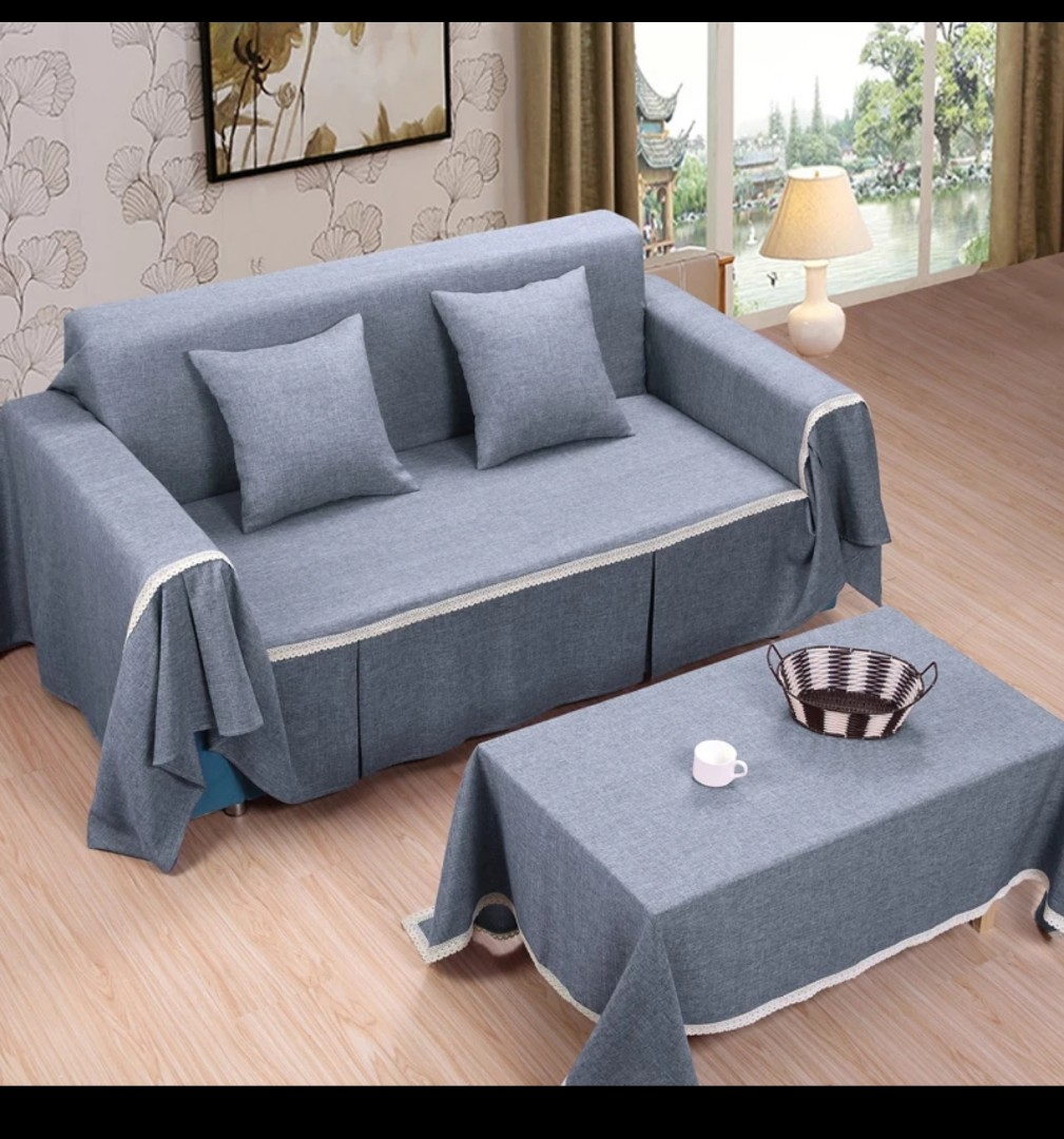 Sofa Cover Set Furniture Home Decor Cushions Linen On Carousell