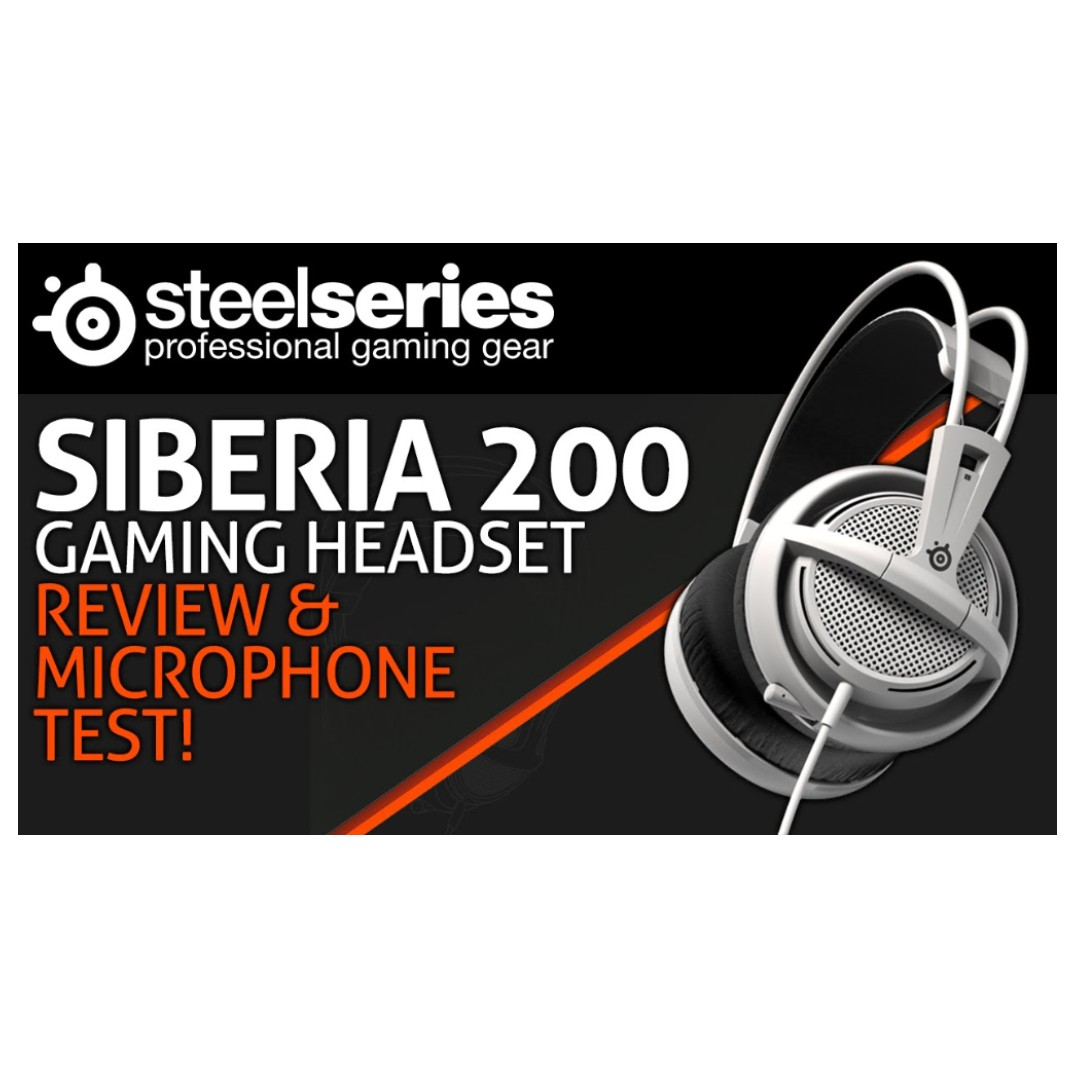 d708ad83c6b SteelSeries Siberia 200 Gaming Headset, Electronics, Others on Carousell