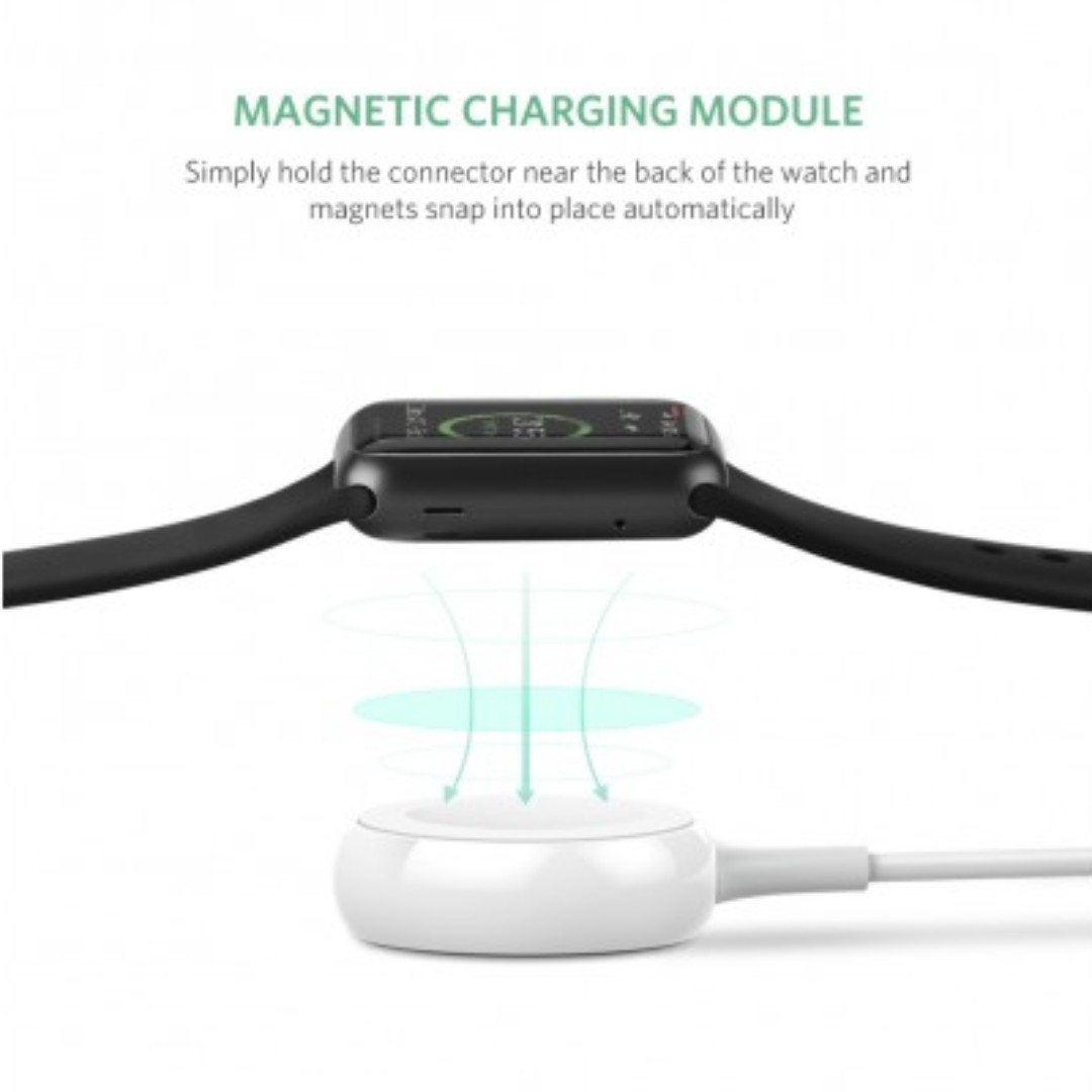 UGreen Apple Watch Magenatic Charger White