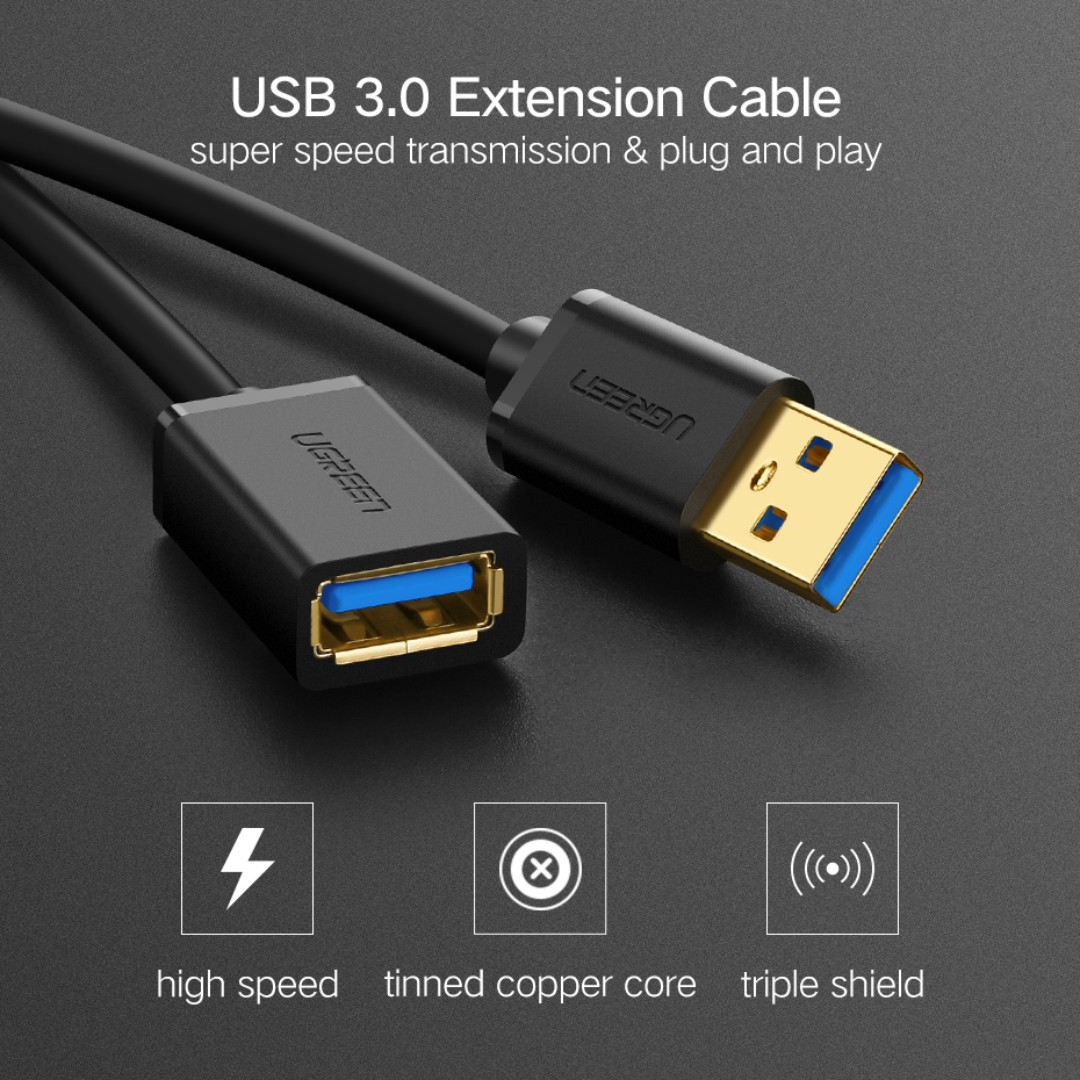 USB Extension Cable USB 3.0 Cable for Smart TV PS4 Xbox One SSD USB3.0 2.0 mini