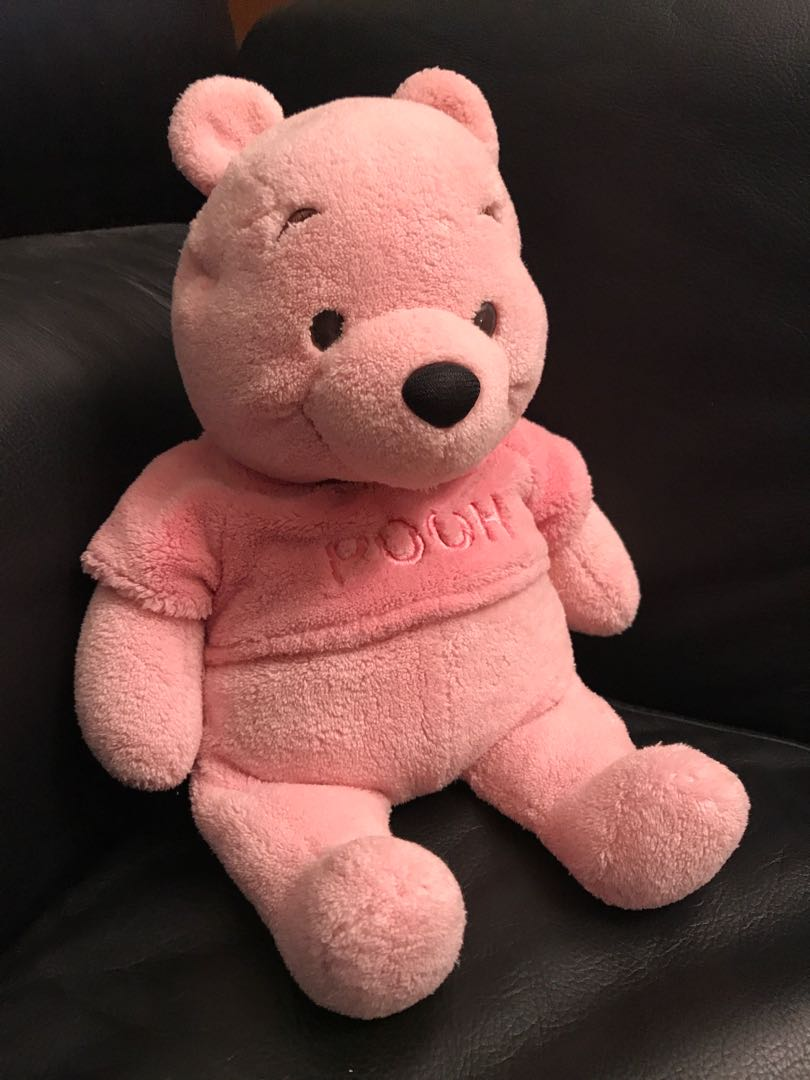 e48732069866 Unique Pink Disney Pooh Bear Plush Toy