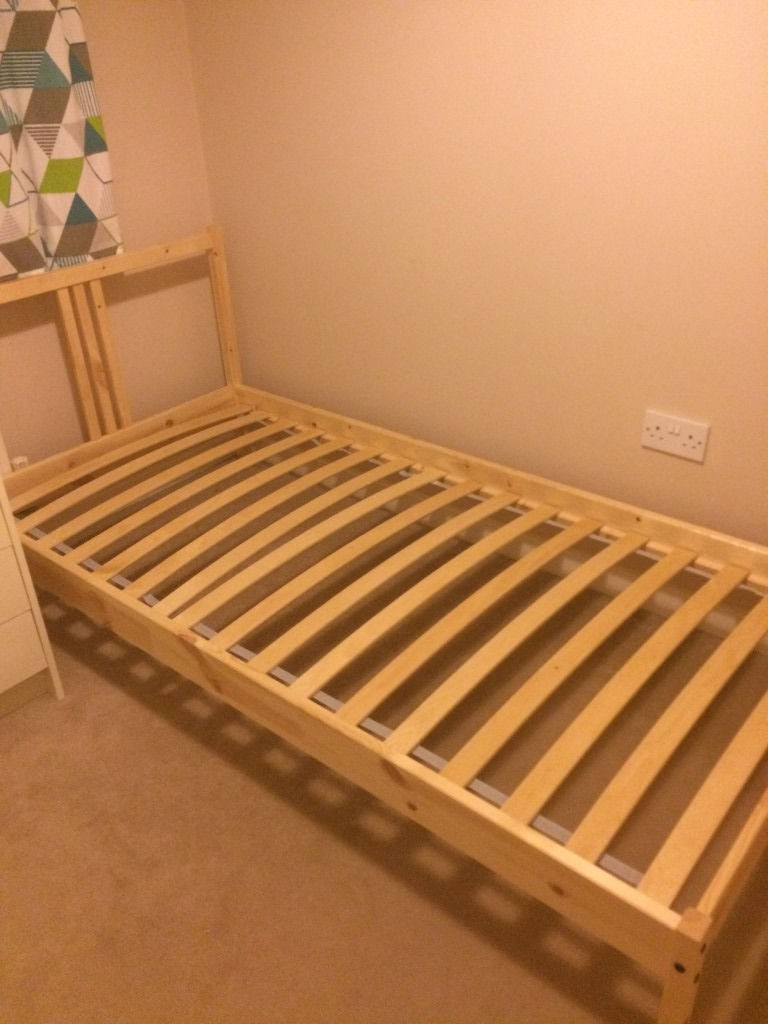 Used Ikea Bed Frame For Sale 8 10 Furniture Beds Mattresses On Carousell