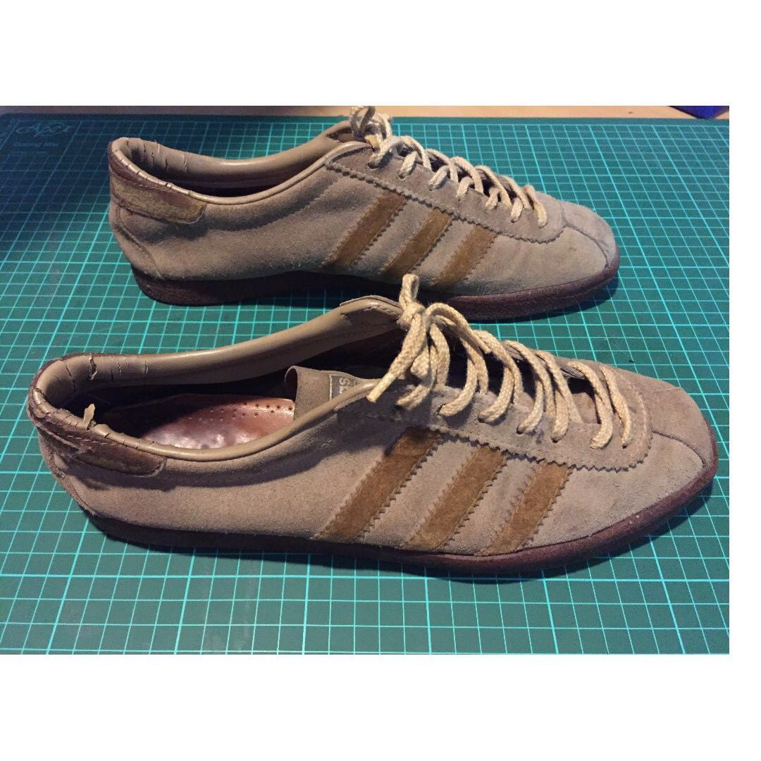 63f39ab7610 Vintage Adidas Riviera 1970 s Made in France Size UK9 (Tobacco ...