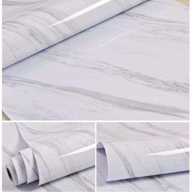 White Marble Contact Paper Instock Design B Furniture Home