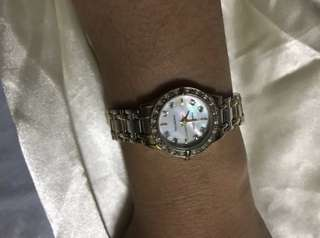 Relisted!!Authentic Anne klein mother of pearl watch