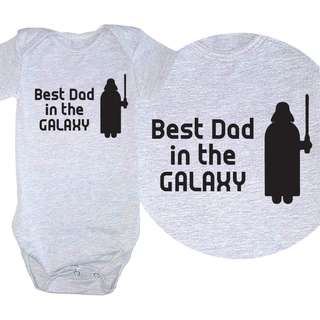 Best Dad in the galaxy Baby Romper - Father's Day Gift - Star Wars