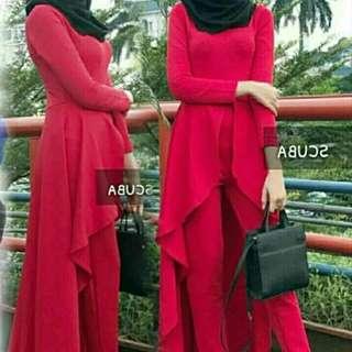 Sale -  set syafana merah