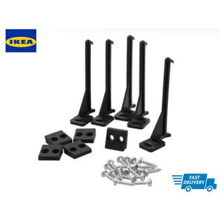 IKEA PATRULL Drawer, cabinet catch, black 5 pieces