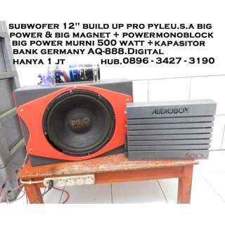 "Subwofer BuiLD up 12""+PowerJumbo 500watt+kapasitor KATAPANG SOREANG"