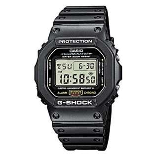 only hk$359, 100% new CASIO G-SHOCK MULTI-FUNCTION CHRONOGRAPH ALARM SPORT WATCH #DW-5600E-1V手錶