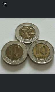 Hong Kong $10 Dollar coin