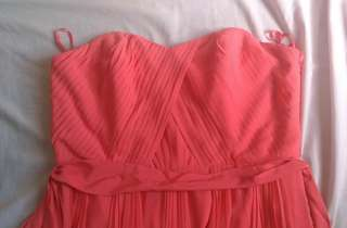 Plus Size Brand New Monsoon Chiffon Orange Tube Formal Dress UK 16