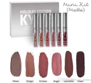 AUTHENTIC KYLIE 6PC MINI KIT HOLIDAY 2016 EDITION