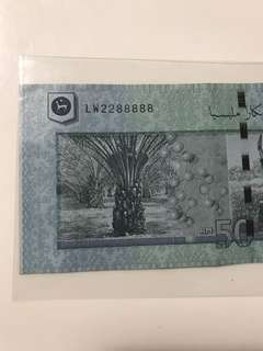 (2288888) Nice fancy 50 Ringgit note