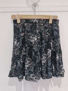 Miss Merie black floral skirt