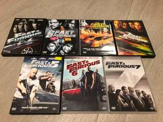 Fast and furious dvd set of 7 movies