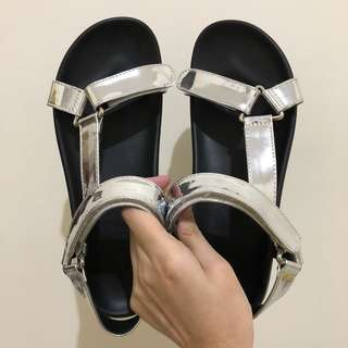 VNC Silver Strap Sandals