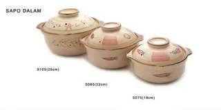 Panci keramik model dalam 19cm