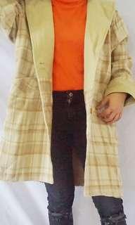 Cream Tartan Coat