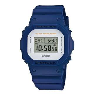 only hk$609, 100% new G-Shock DW-5600M Gulfmaster Summer Color Theme Stylish Watch - Blue / One Size手錶