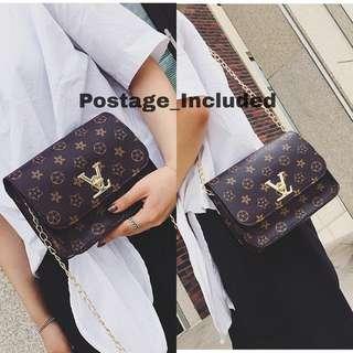 VL flower chain sling/shoulder bag