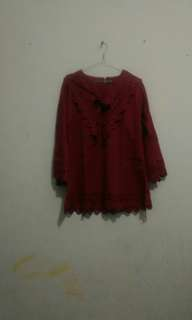 #mausupreme merah top