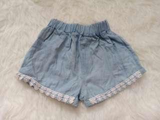 Preloved celana pendek anak perempuan import