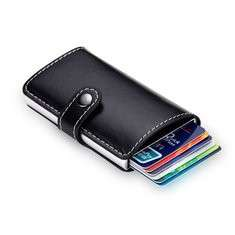Automatic Pop-up Card Holder RFID Blocking Secure Money Clip