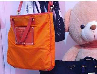 Original Prada 2way bag orange