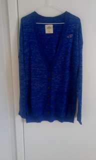 Hollister blue cardigan