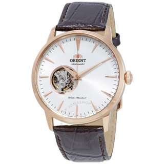 only hk$899, 100% new ORIENT Open Heart Automatic White Dial Men's Watch手錶,