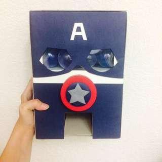 🚚 美國隊長💕我是扭蛋機 手工卡片 手工 扭蛋機