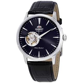 only hk$839, 100% new ORIENT Open Heart Automatic Black Dial Men's Watch手錶