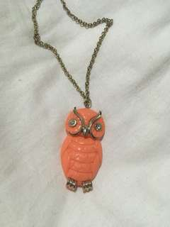 Owl Orange Necklace