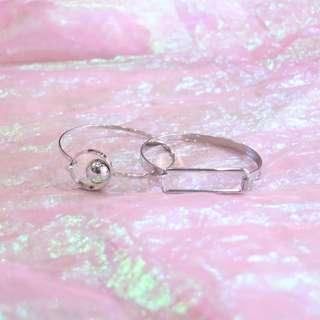 圓珠圓環手環/長方形手環