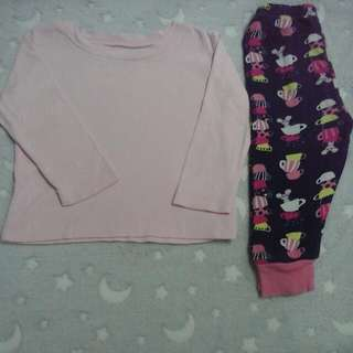 carter's top shirt & gymboree pants baby girl 12-18 months