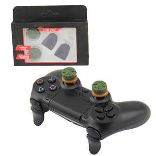 PS4 Controller FPS Grips Snipr and L2 R2 Extended Button Kit - Green+Black (New)