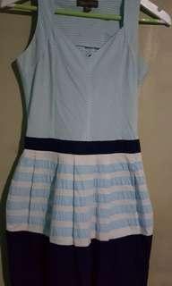 Plains & Prints powder blue stripes dress