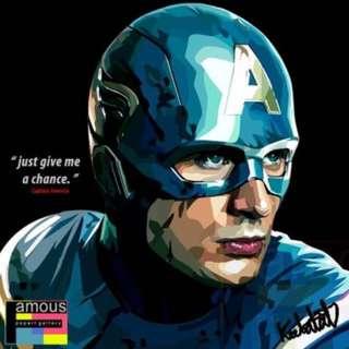 Captain America PopArt! Portrait