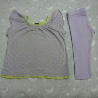 babyGap top shirt blouse & gymboree legging pants baby girl 12-24 months