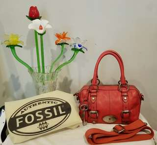 Fossil Maddox Small Pink Rose