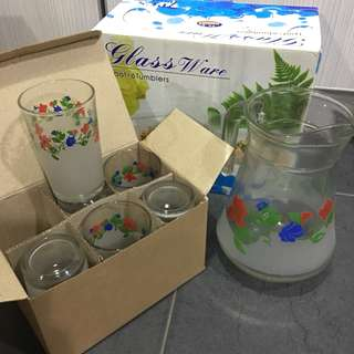 Glassware Set (1Pot + 6Tumblers)