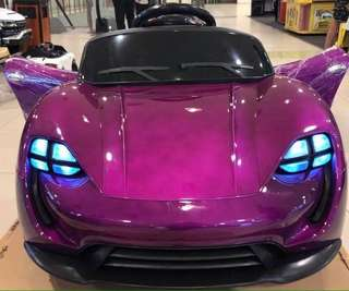 Violet Rechargeable Porsche Sports Car Ride On Car