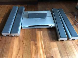 Sony Music system 5.1 speakers with DVD player