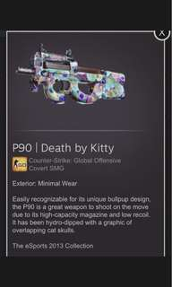 CS:GO ( P90 Death By Kitty )