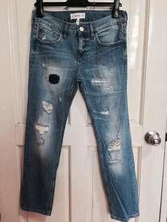 Mango Denim Ripped Cigar Jeans