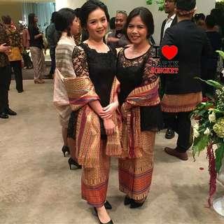 Songket thailand bwhn rok kebaya brokat tile batik songket