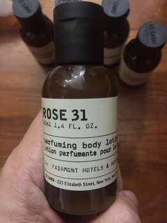Le Labo body lotion 40ml made in Canada Rose 31 no parabens