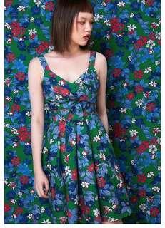 🚚 OshareGirl 06 歐美女士印花圖案連身洋裝連身裙